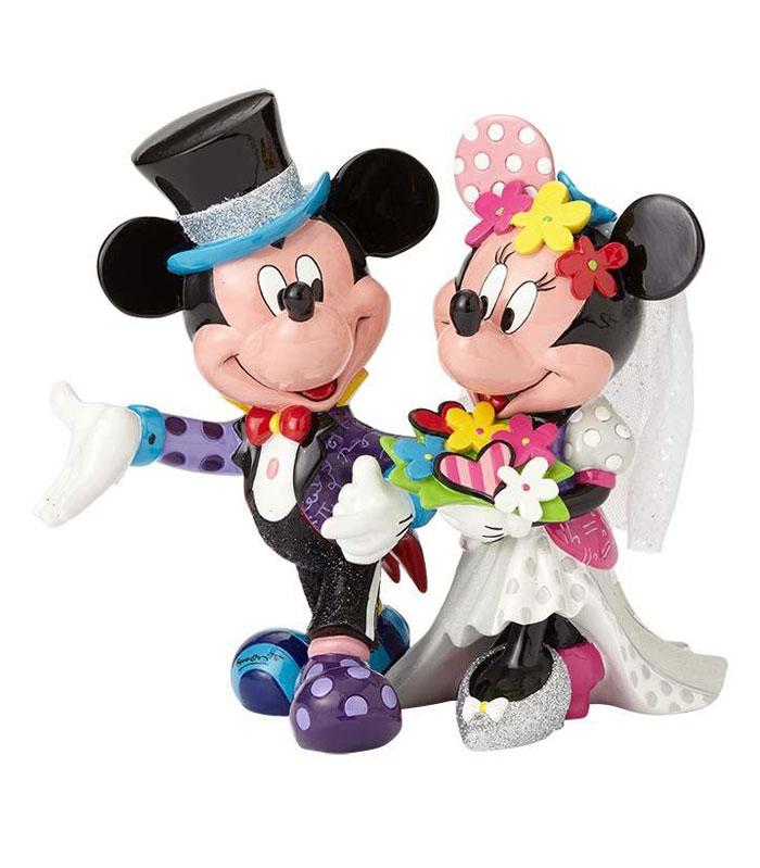 Britto Disney Mickey & Minnie Wedding Figurine. Disney Collectibles