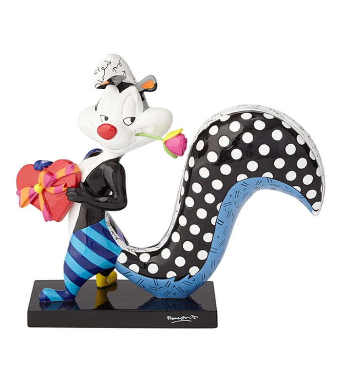 Britto Looney Tunes Pepe Le Pew With Flower Figurine