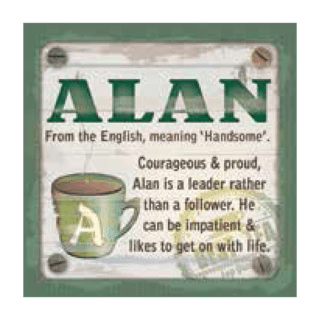 Personalised Cuppa Coasters - Alan