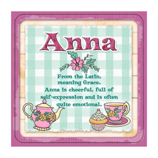 Personalised Cuppa Coasters - Anna