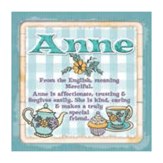 Personalised Cuppa Coasters - Anne