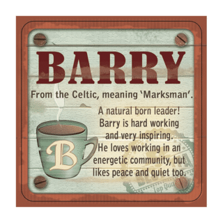 Personalised Cuppa Coasters - Barry