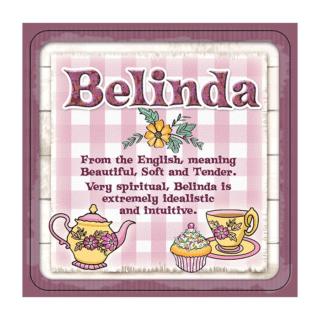 Personalised Cuppa Coasters - Belinda