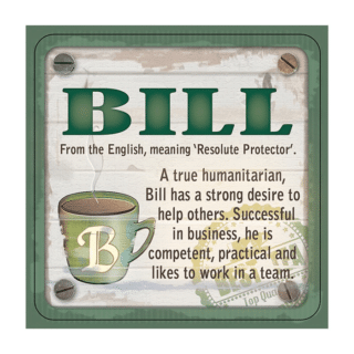 Personalised Cuppa Coasters - Bill