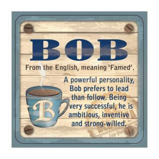 Personalised Cuppa Coasters - Bob