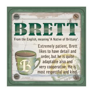 Personalised Cuppa Coasters - Brett