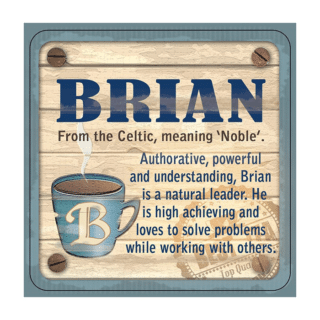 Personalised Cuppa Coasters - Brian