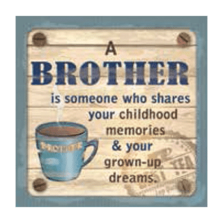 Personalised Cuppa Coasters - Brother