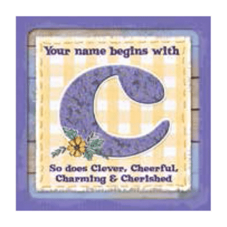Personalised Cuppa Coasters - C (Female)