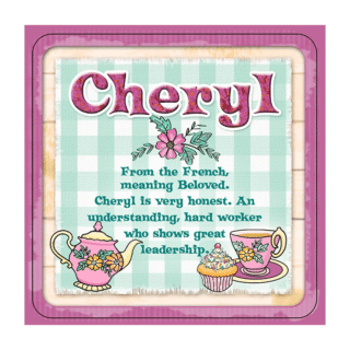 Personalised Cuppa Coasters - Cheryl