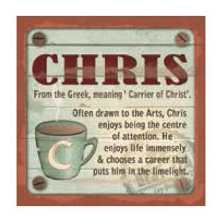 Personalised Cuppa Coasters - Chris