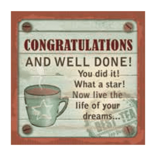 Personalised Cuppa Coasters - Congratulations and well done!