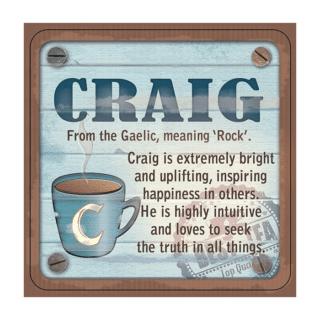 Personalised Cuppa Coasters - Craig