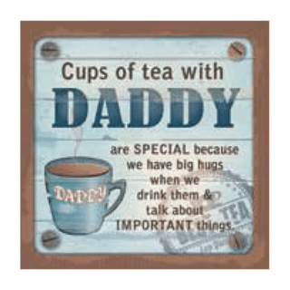 Personalised Cuppa Coasters - Cups of tea with Daddy