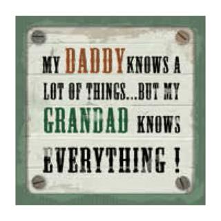 Personalised Cuppa Coasters - Grandad knows everything