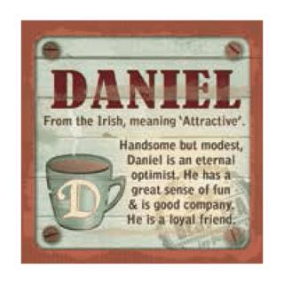 Personalised Cuppa Coasters - Daniel
