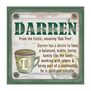 Personalised Cuppa Coasters - Darren