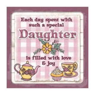 Personalised Cuppa Coasters - Daughter