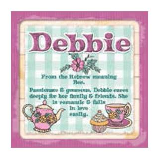 Personalised Cuppa Coasters - Debbie