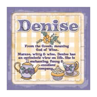 Personalised Cuppa Coasters - Denise