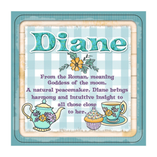 Personalised Cuppa Coasters - Diane