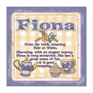 Personalised Cuppa Coasters - Fiona