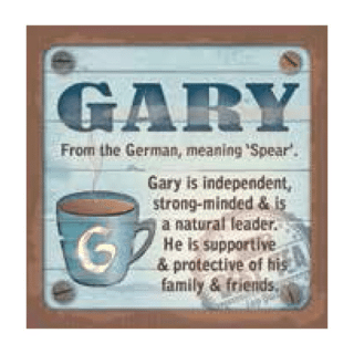 Personalised Cuppa Coasters - Gary