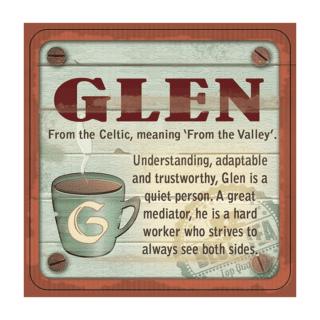 Personalised Cuppa Coasters - Glen