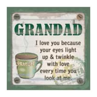 Personalised Cuppa Coasters -Grandad