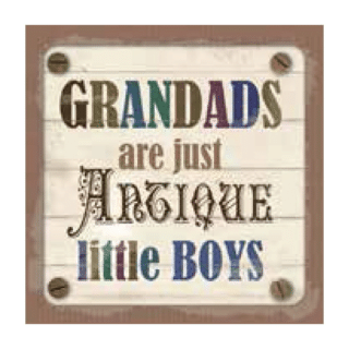 Personalised Cuppa Coasters - Grandads are just antique little boys