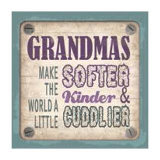 Personalised Cuppa Coasters - Grandmas
