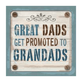Personalised Cuppa Coasters - Great dads get promoted to grandads