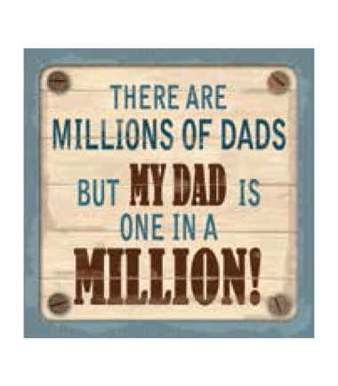Personalised Cuppa Coasters - My dad is one in a million
