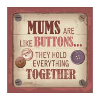 Personalised Cuppa Coasters - Mums are like buttons