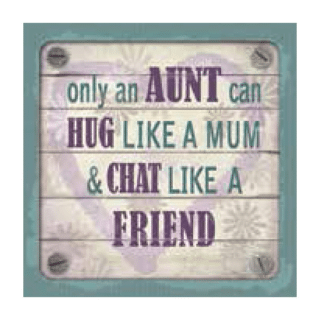 Personalised Cuppa Coasters - Aunt