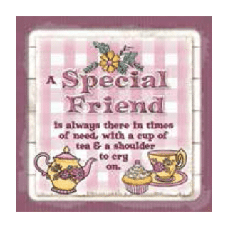 Personalised Cuppa Coasters - A special friend