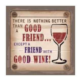 Personalised Cuppa Coasters - Friend with good wine