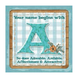 Personalised Cuppa Coasters - A (Female)