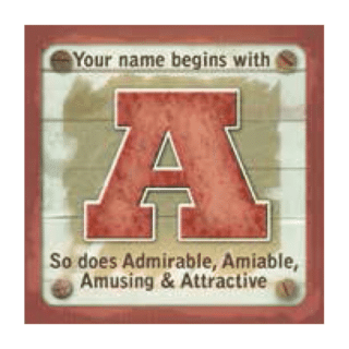 Personalised Cuppa Coasters - A (Male)