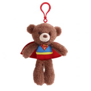 DC Superhero Friends - Superman Gund Bear Plush Backpack Clip
