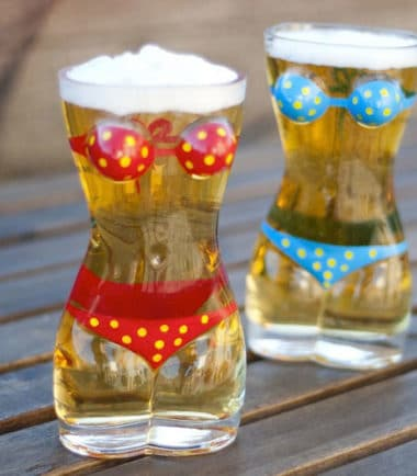 Bikini Beer Glass - Novelty Gift For Men