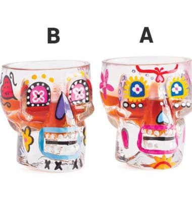 Candy Skull Shot Glasses - Gifts for Men, Novelty gifts, Drinking Stuff