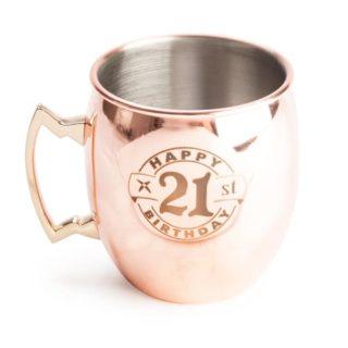 "21st Moscow Mule Copper Mug - ""Happy 21st Birthday"""