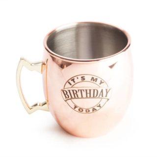 It's My Birthday Moscow Mule Copper Mug