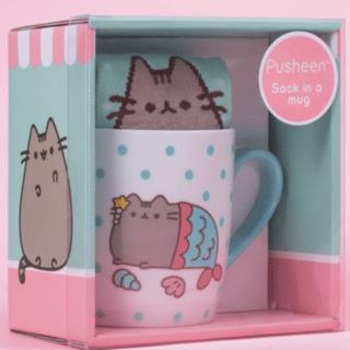 Pusheen - Mermaid Pusheen Sock in a Mug