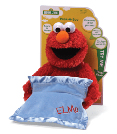 Sesame Street - Pee-A-Boo Elmo Sound and Motion Soft Toy