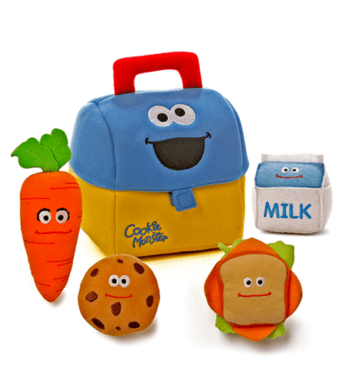 Sesame Street - Cookies Monster's Lunch Box Plush Toys
