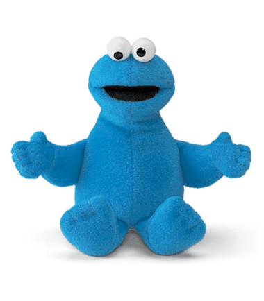 GUND Sesame Street Cookies Monster Mini Beanie Plush