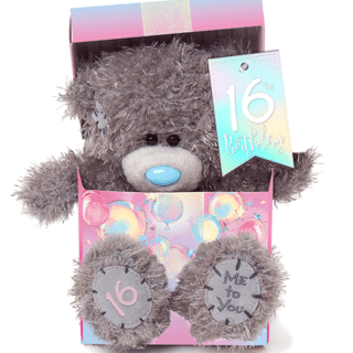 Me to You 16th Birthday Plush Bear in Box. Perfect gift for 16th birthday