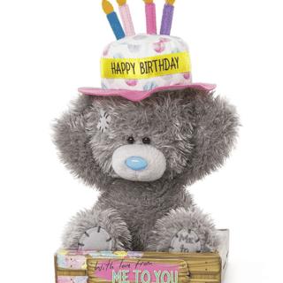 Me to You Birthday Cake Hat Plush Bear. Perfect birthday gift